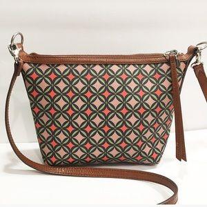 FOSSIL PVC leather Crossbody bag purse